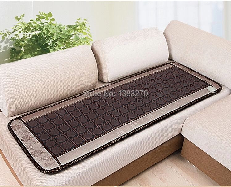 2017 NEW HOT jade heat therapy products heating tourmaline seat cushion sleeping massage with free eye cover 50X150CM