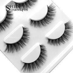 3 Pairs False Eyelashes Makeup 3D Mink Lashes Eyelash Extension Cross Make Up Beauty Mink Eyelashes Faux Cils Maquiagem Cilios