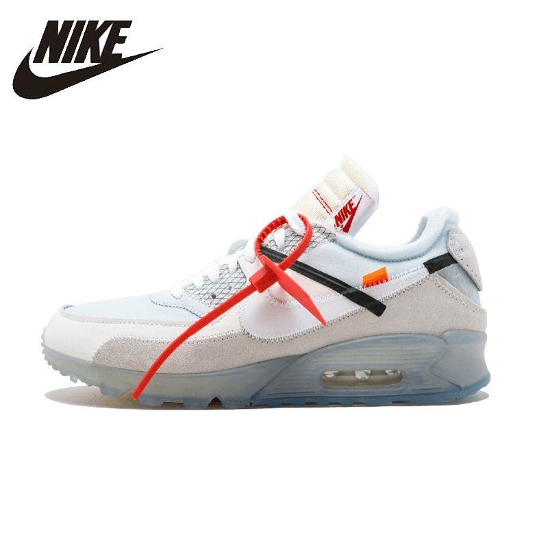 NIKE AIR MAX 90 OW Original Herren Laufschuhe Atmungsaktive Stabilität Schuhe Super Licht Turnschuhe Für Männer Schuhe