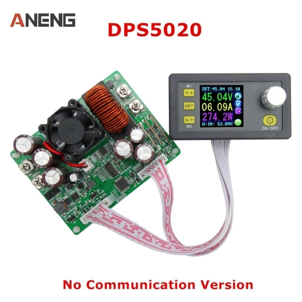 DPS5020 Constant Voltage Current Step-Down Communication Digital Power Supply Voltage Converter LCD Voltmeter 50V 20A