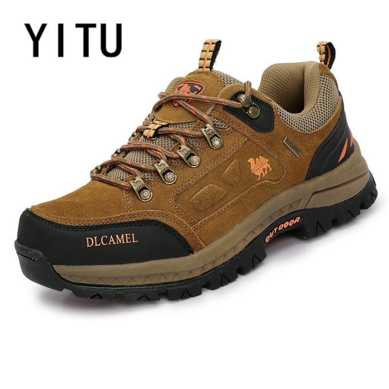 YITU Mans Winter Sneakers Camel Shoes Outdoor Mountain Climbing Sneakers Hunting Trekking Shoes Ankle Boots Sports Men Footwears