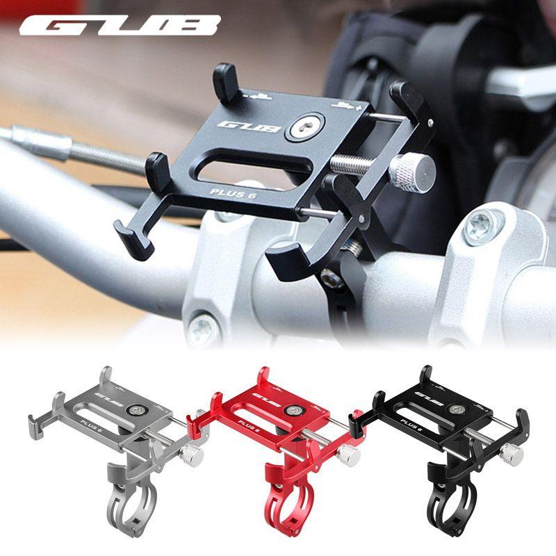 GUB 7 couleurs vélo support pour téléphone 360 degrés Rotation Aluminium vtt vélo Smartphone support guidon support pour iphone 6 7 8