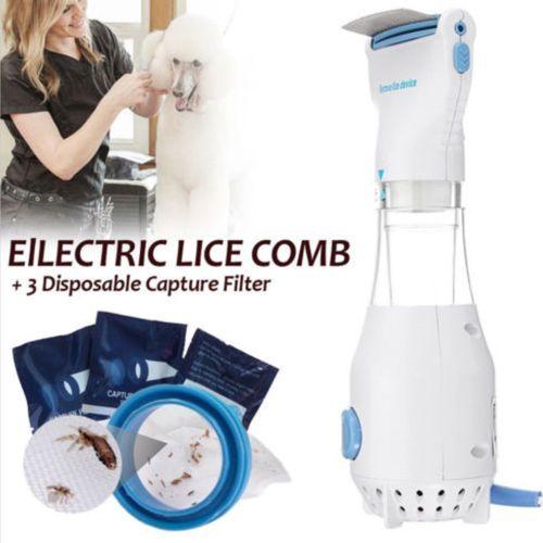 Head Vacuum Lice comb Electric Capture Pet Filter Lice Treatment