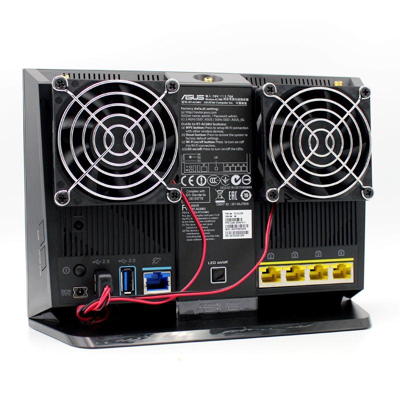 70mm DC 5V Cooling Fan Heat Radiator USB Power Ultra Silent Dissipate Temperature Control For RT-AC68U EX6200 AC15 AC68U Router