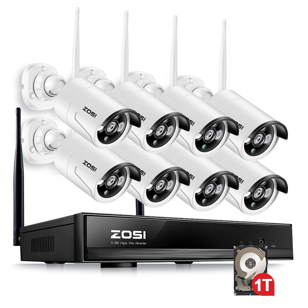 ZOSI 1TB HDD 8CH CCTV System Wireless 960P Powerful Wireless NVR WIFI IP Camera CCTV Home Security System Surveillance Kits