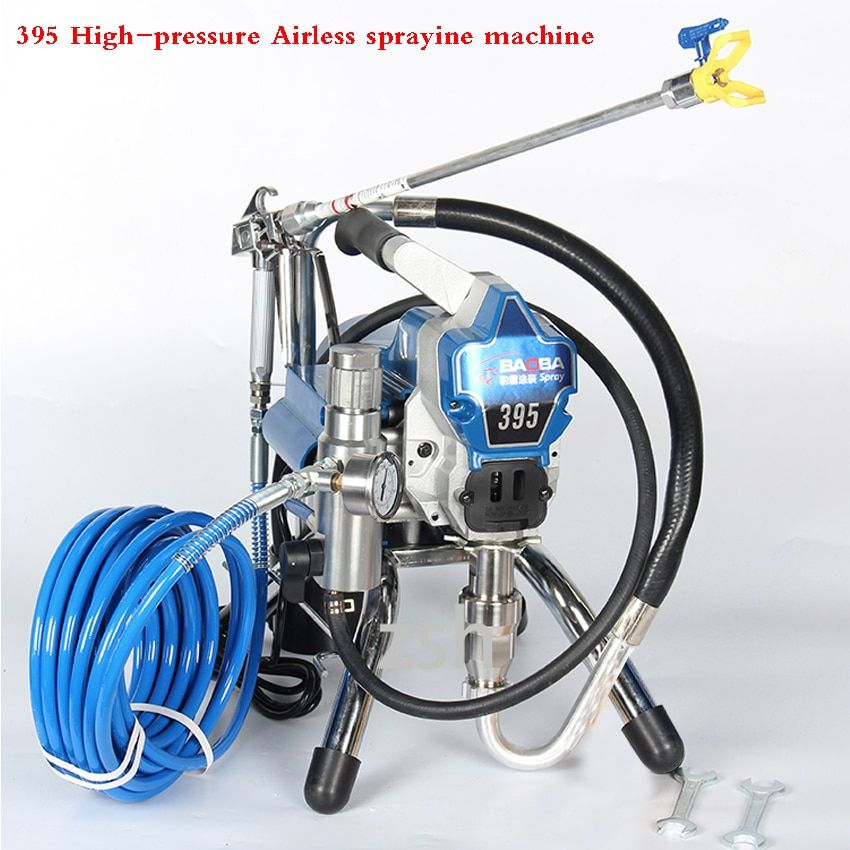 395 Airless Paint Sprayer 4.2L High Pressure Airless Spraying Machine 3000PSI Professional Wall Spray Airless Spray Gun 2200W