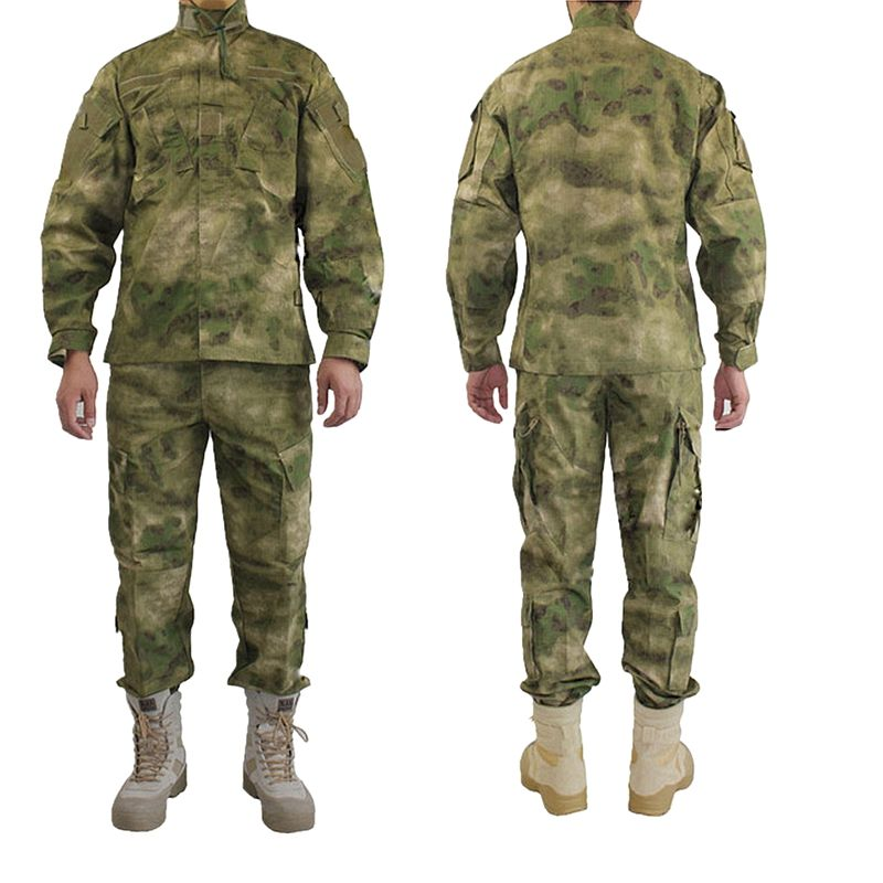Outdoor Army Military Uniform Camofluage Taktische Atacs a-tacs FG Camo Durable Shirt & Hosen Armee Kampf Mantel und hosen