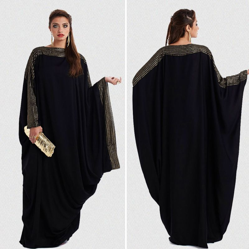 plus size S~6XL <font><b>quality</b></font> new arab elegant loose abaya kaftan islamic fashion muslim dress clothing design women black dubai abaya