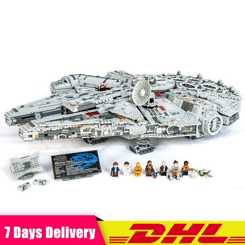 Clone LEGOINGLY 75192 LEPIN 05132 Star 8445 PCS Wars The UCS Large Millennium Falcon Set Building Blocks Bricks Set DIY Toys