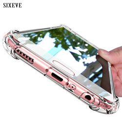 SIXEVE Super Antichoc Clear Case Silicone Pour Samsung galaxy S8 S9 plus la Note 8 Couverture de téléphone portable Pour Samsung S8 Samsung S8Plus