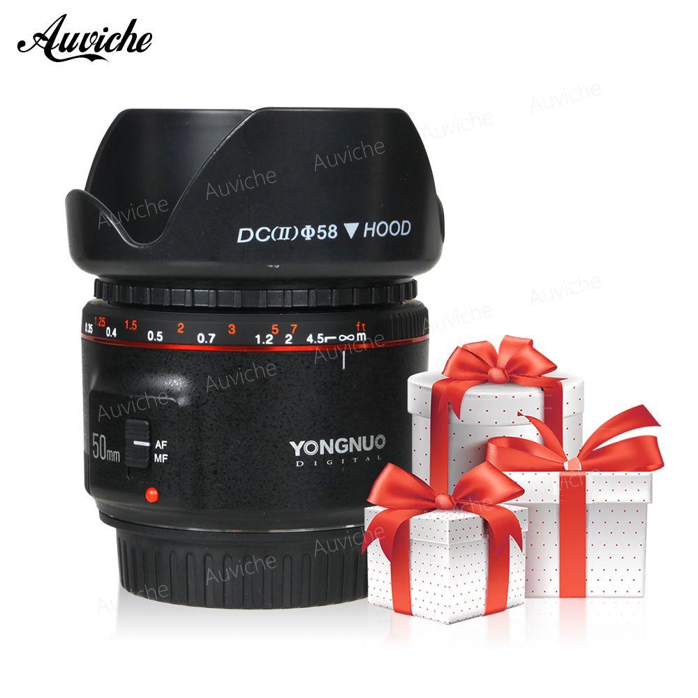 Yongnuo YN50MM F1.8 II AF/MF 0.35M Focus Distance Standard Prime Lens for Canon EOS EF Mount for Canon 1300D 850D 800D 750D 700D