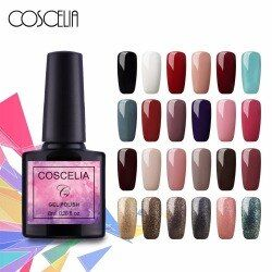 Coscelia 8 ml Super Nail Gel Polish 40 Couleur pour choisir Vernis Vernis Soak Off UV LED Gel Laque Permanent vernis À ongles