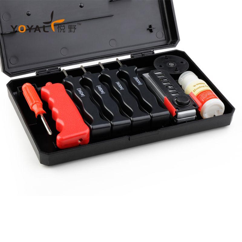 YOYAL pro Couteau de diamant Aiguiseur Couteau extérieur système D'affûtage 4 pierres 1 set professionnel outil de meulage lansky de pêche