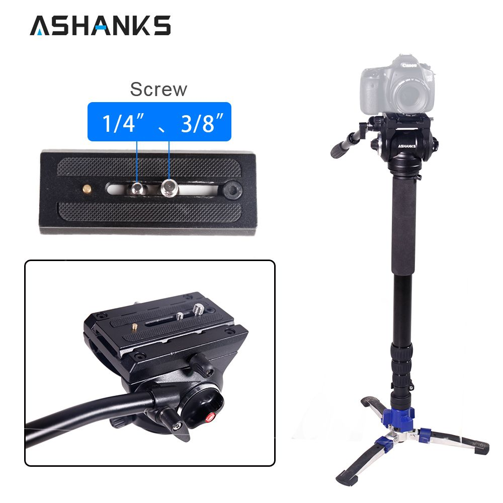 ASHANKS Camera Monopod with Carrying Bag Case Photography Accessories Hydraulic Damping Video Head Unipod Holder for Studio DHL