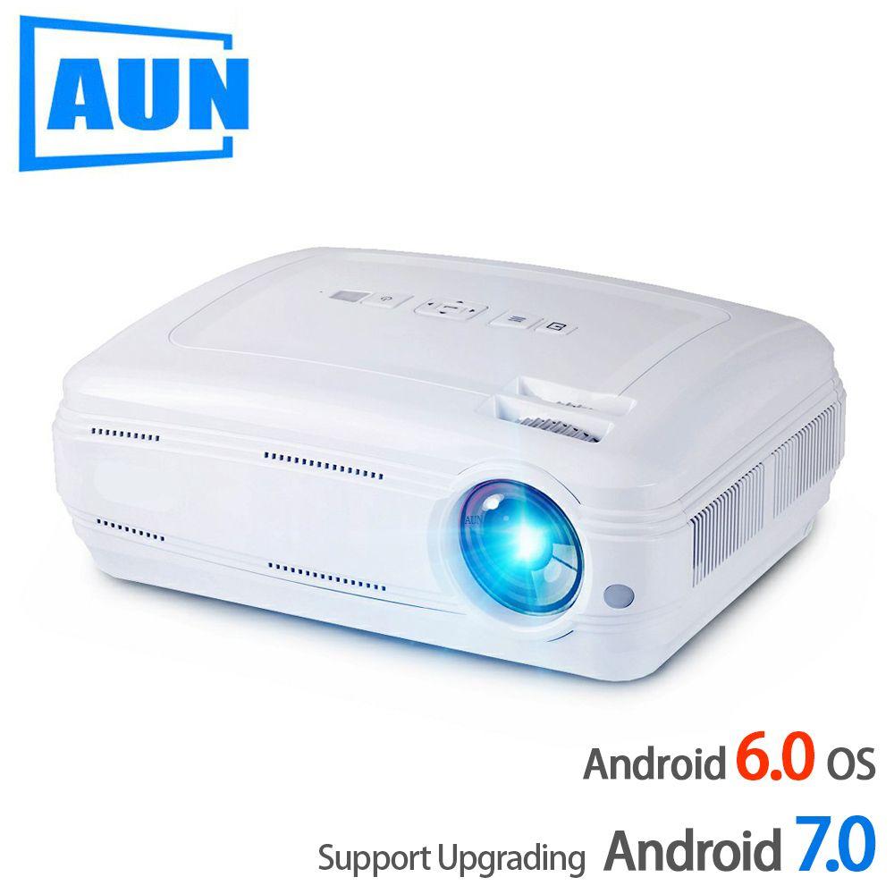 AUN AKEY2 LED Projektor, 3500 Lumen Upgrade Android 7.0 Beamer. Eingebaute WIFI, Bluetooth, Unterstützung 4 K Video Full HD 1080 P LED TV