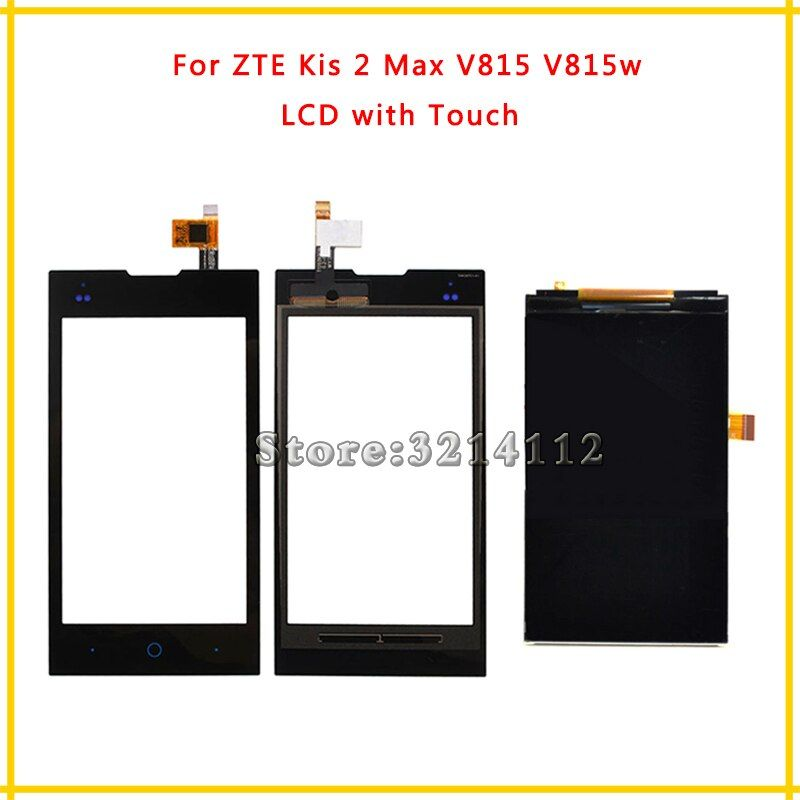 Replacement LCD Display Screen or Touch Screen Digitizer Sensor For ZTE Kis 2 Max V815 V815w + Tracking Code