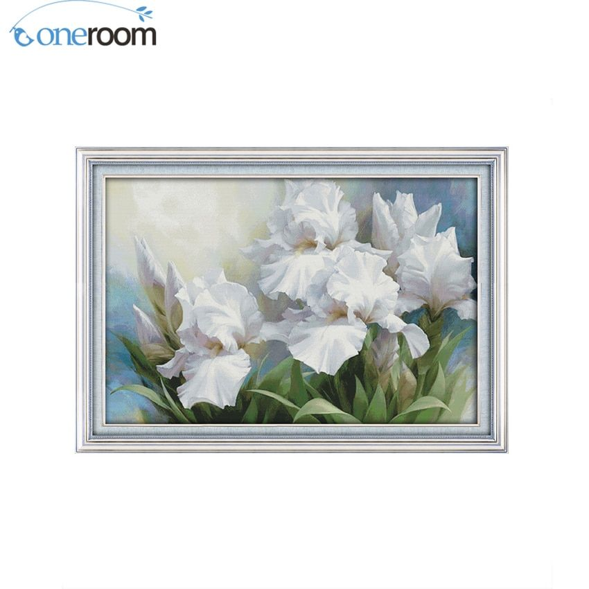 oneroom BIG Size Iris Flower Counted Cross Stitch Chinese Cross Stitch 11CT printed 14CT Cross-Stitch Kit