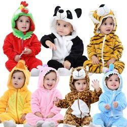 2018 Barboteuse Infantile Bébé Garçons Filles Salopette Nouveau-né Bebe Vêtements bébé à Capuchon Bébé Vêtements Mignon Panda Barboteuse Bébé Costumes