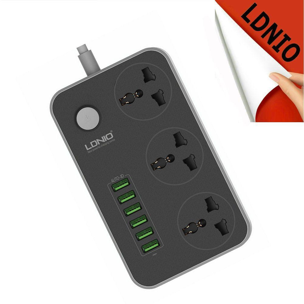 Universal UK eu US 3 AC Mur Plug 6 USB Adaptateur Prises électriques Voyage Prises de Courant avec 2 M cordon chargeur pour Smart téléphone