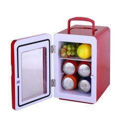 4L pequeño refrigerador compacto fría y caliente de doble propósito mini coche refrigerador de la casa