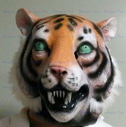 2013 jual panas realistis kepala penuh karnaval topeng, Perayaan pesta Cap dewasa topeng harimau