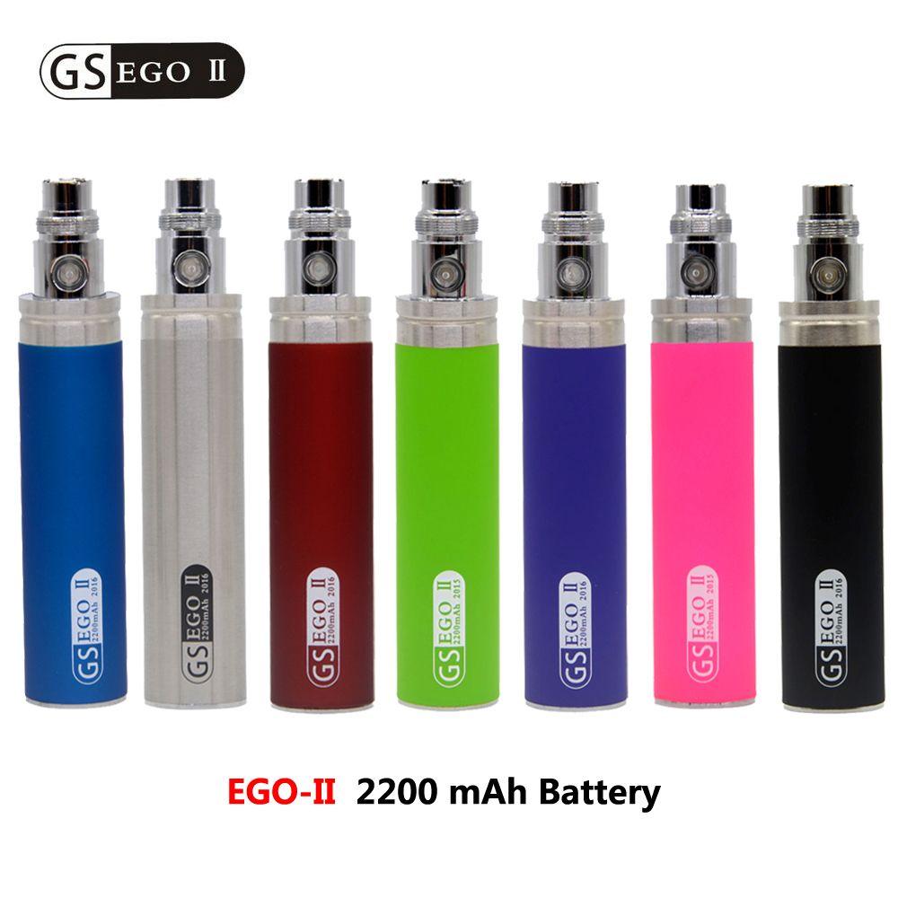 Neuheiten Große Kapazität 2200 mah EGO 1 woche Batterie Für ego II ego-II elektronische zigarette Ego/510 gewinde Batterie Multi Farben