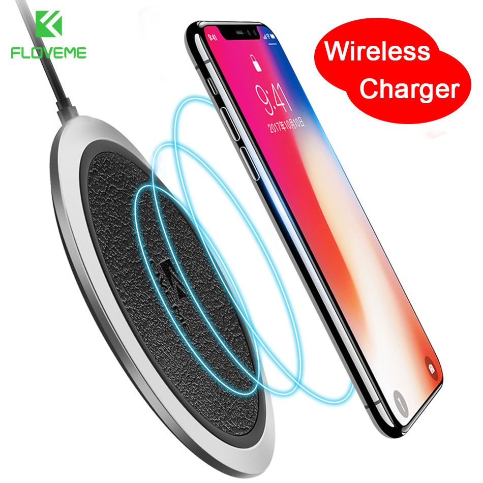 FLOVEME Wireless Charger For iPhone USB Charger QI Wireless Charger Holder For Samsung Galaxy S8