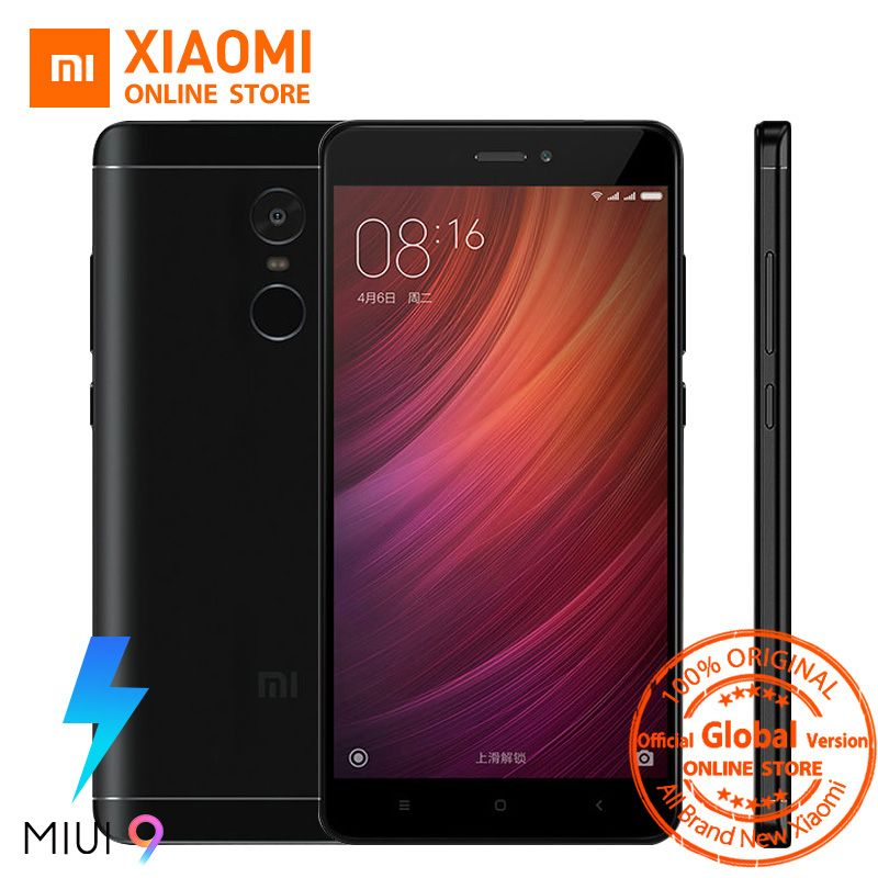 Global Version Xiaomi Redmi Note 4 4GB 64GB Snapdragon 625 Octa Core Fingerprint ID 4100mAh Smartphone 5.5
