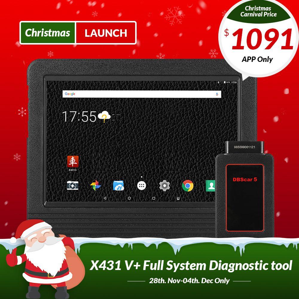 STARTEN X431 V Plus 10,1 zoll Wifi/Bluetooth Auto diagnose werkzeug mit 2 jahr freies update X431 V + auto Scanner Gleiche wie X431 Pro3