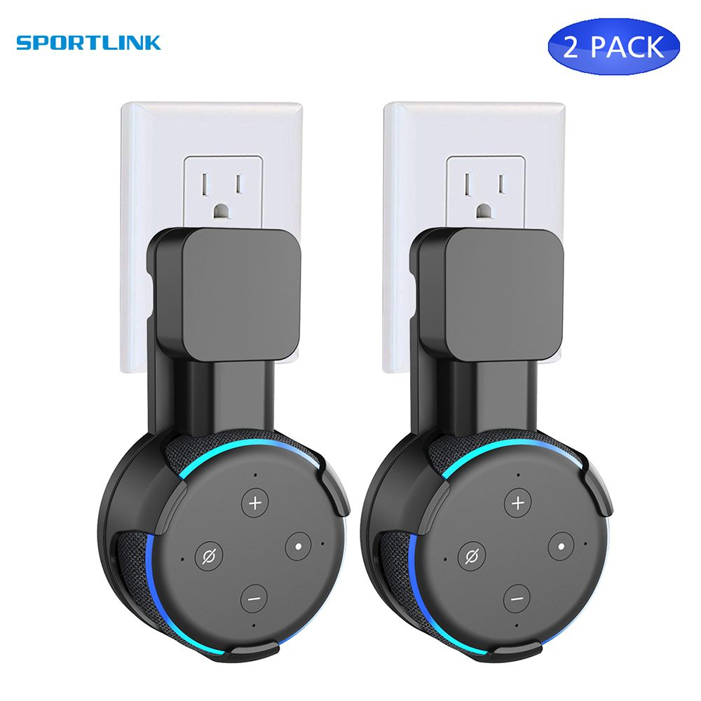 Outlet Wall Mount Plug Smart Charging Head Bracket Stand For Amazon Echo Dot 3nd 2018 New Arrival fashion