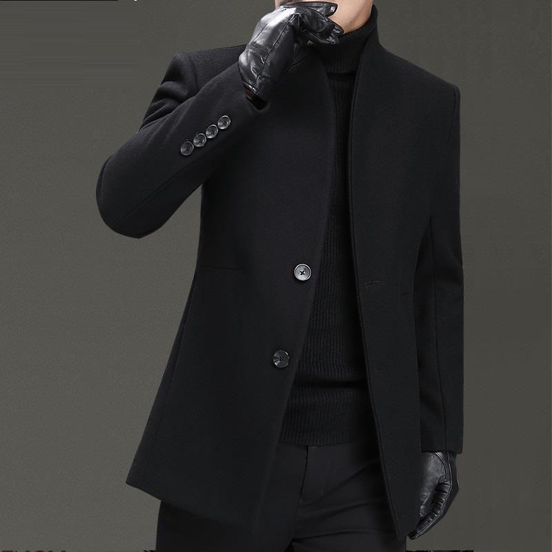 Larga Hombre Palto Long Heren Jas Overcoat Casaco Fashion Winter Men Invierno Korean Wool Longo Short Courte Woolen Coat