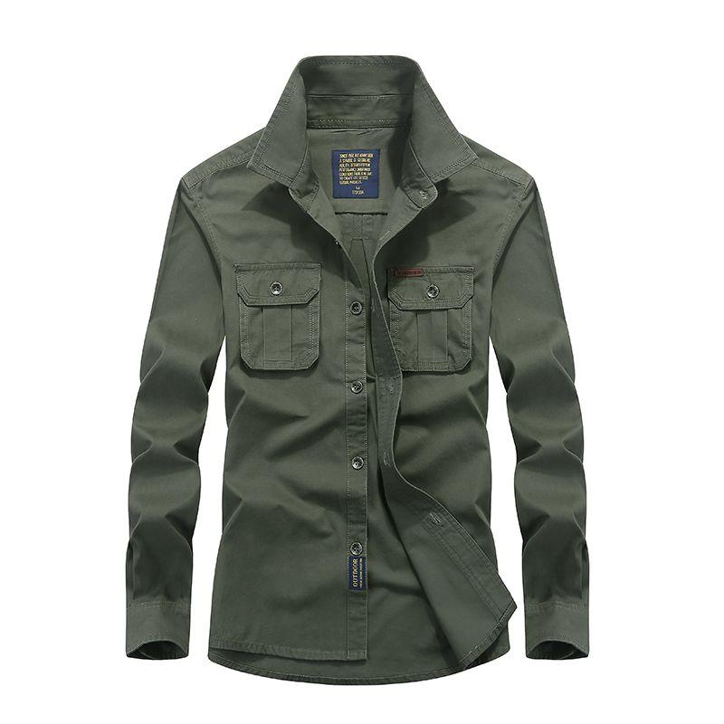 Hot sale Men Long Sleeve Shirt Cotton Fall Business Breakout Casual Long Sleeve Shirt Free Shirt plus size S-4XL
