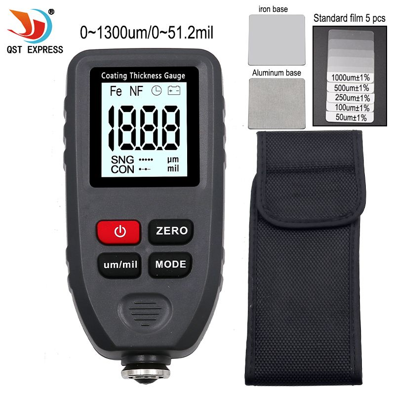 TC-100 Thickness gauge paint coating Digital Car Paint Thickness Meter 0-1300um Width Measuring tester