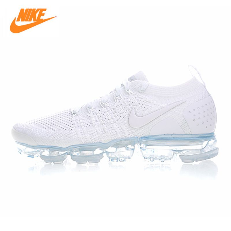 Nike Air Vapormax Flyknit Men's Running Shoes , White, Breathable Non-slip Wear-resistant Lightweight 942842 100