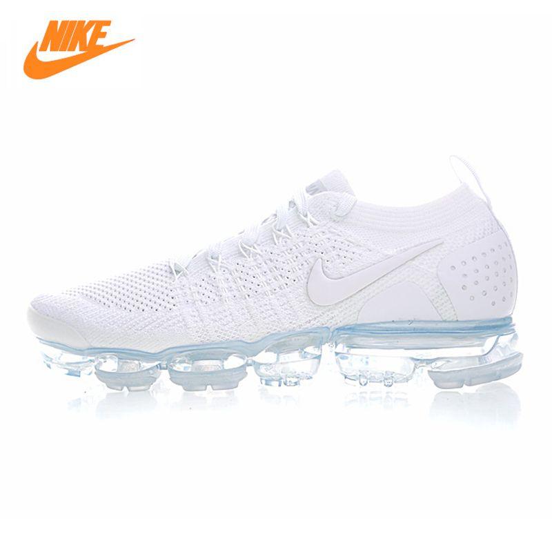 Nike Air Vapormax Flyknit männer Laufschuhe, weiß, atmungsaktiv rutschfeste verschleißfest Leicht 942842 100