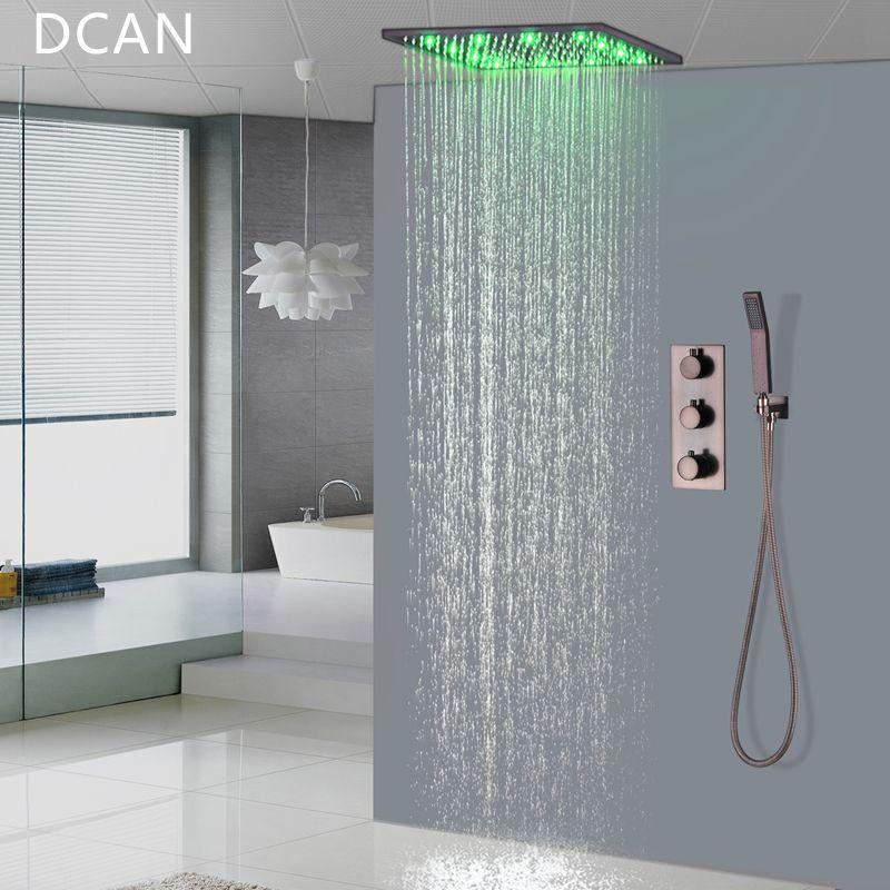 Premium Qualität Messing Schwarz Dusche Set Bad 16