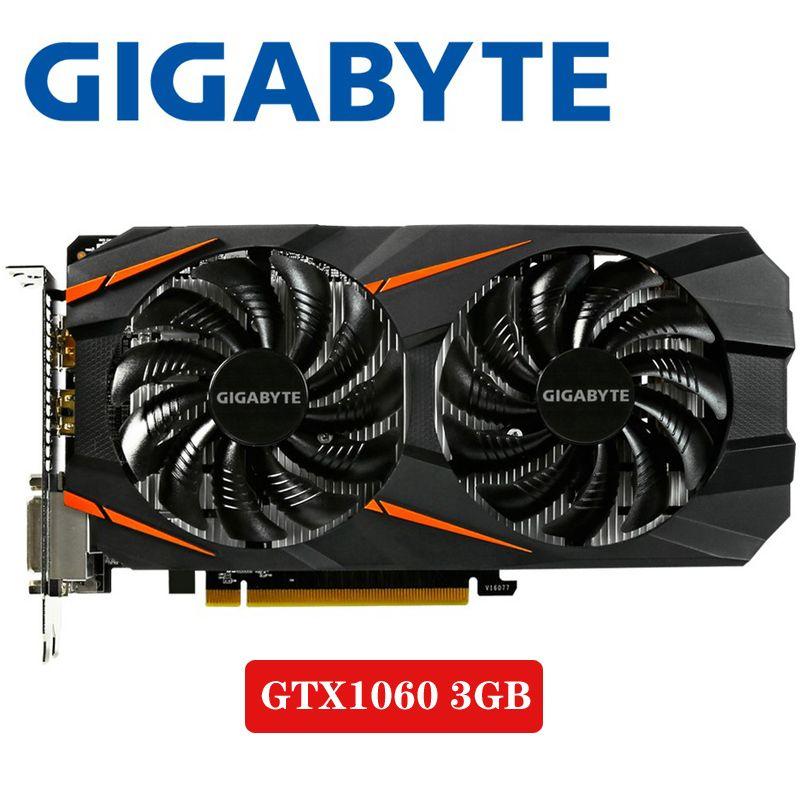 PC Desktop GIGABYTE Video Karte GTX 1060 3 GB Grafiken Karten Karte Für nVIDIA Geforce GTX1060 OC GDDR5 192Bit Hdmi grafik Karten