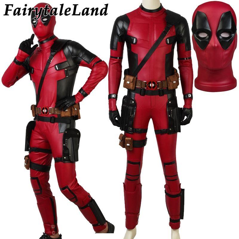 Wade Winston Wilson Deadpool Jumpsuit Halloween Costumes Custom made Movie Deadpool 2 Costume Cosplay Deadpool Suit