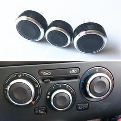 3 pcs/set Mobil styling aksesoris mobil kontrol panas Beralih knob AC Knob untuk Nissan Tiida/NV200/Livina/Geniss