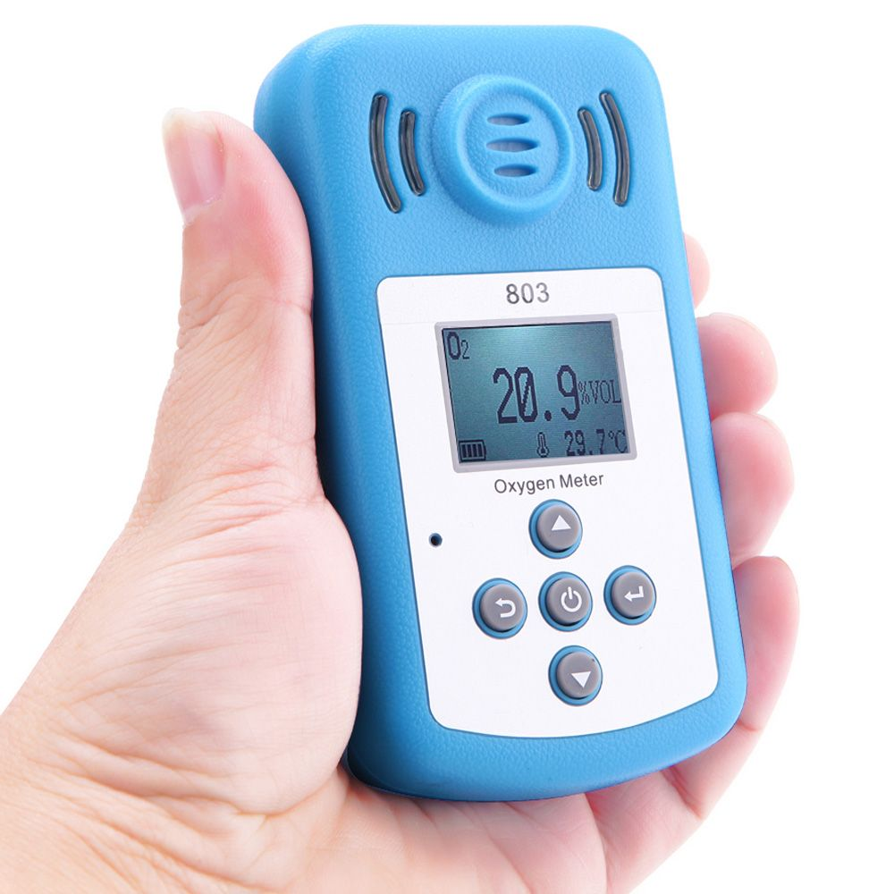 Oxygen Meter Digital Meter Portable Oxygen(O2) Concentration Detector with LCD Display and Sound-light Alarm