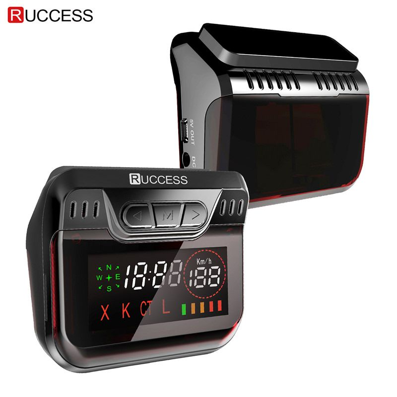 Ruccess STR S900 Radar <font><b>Detectors</b></font> Led 2 in 1 Radar <font><b>Detector</b></font> for Russia with GPS Car Anti Radars Police Speed Auto X CT K La