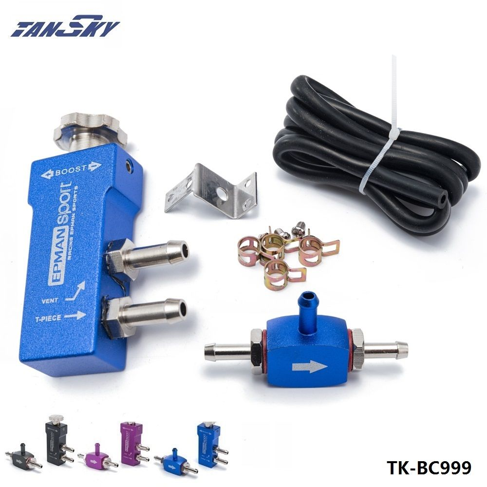 TANSKY - Aluminium Alloy MBC Adjustment Manual In Cabin Boost Controller Polished Racing Parts Color: Black,Blue,Purple TK-BC999