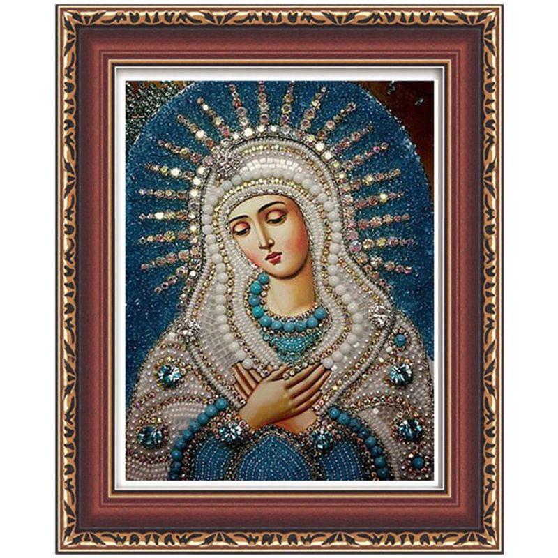5d diy алмаз вышивка Религиозная Богоматери и ребенок алмаз живопись Иисус мозаика бисер фотографии Стразами вышивки крестом