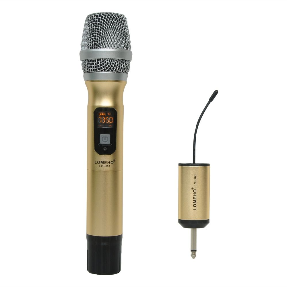 LOMEHO LO-U01 1 voie multi canal métal emetteur à main sans fil Microphone caméra Microphone soirée karaoké Microphone