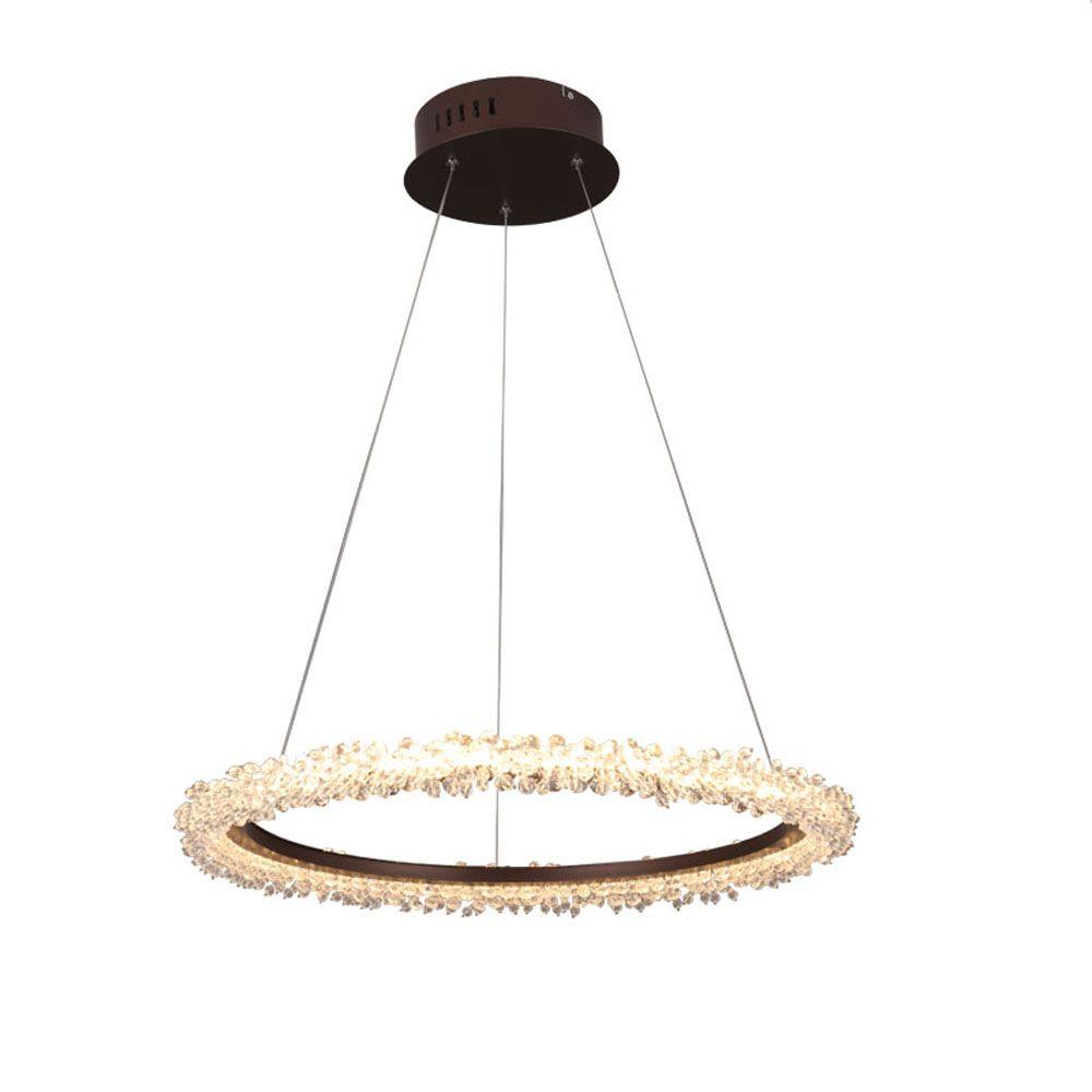brief design LED crystal chandelier modern hanglamp AC110V 220V lustre cristal living room dinning room lights