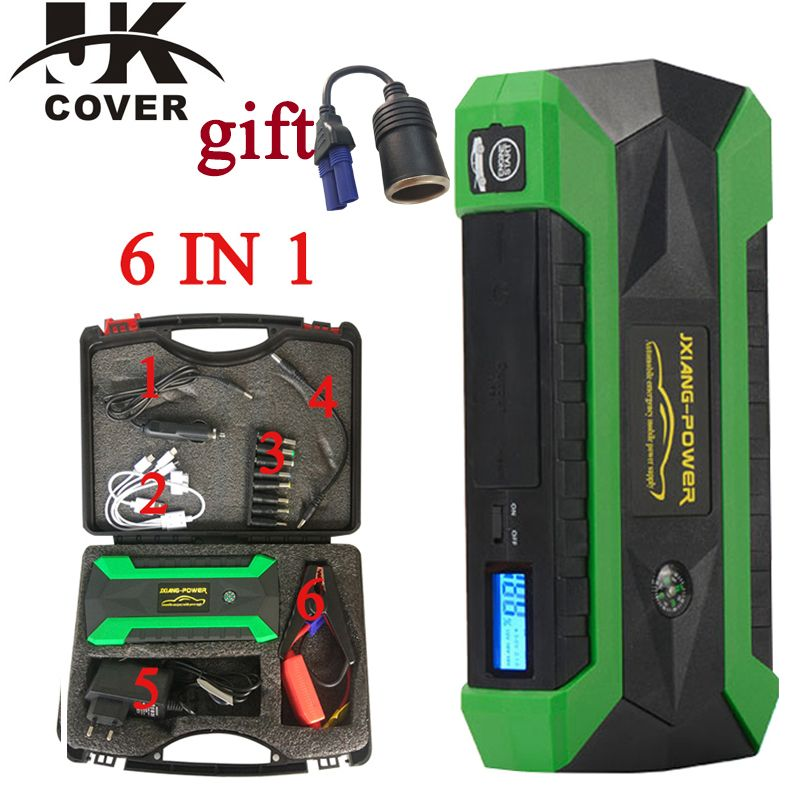 JKCOVER 68000 mWh Car Jump Starter for Petrol Car Battery Charger Emergency 800A Discharge Auto Starting High Power Pack Bank