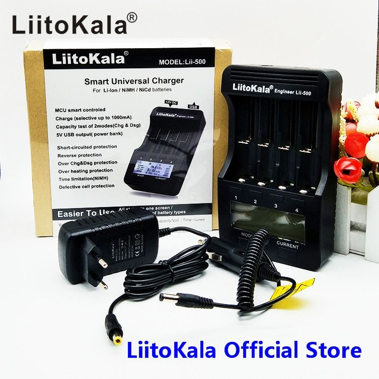 LiitoKala lii-500 LCD 3.7V 1.2V 18650 26650 16340 14500 10440 18500 20700B 21700 Battery Charger with screen