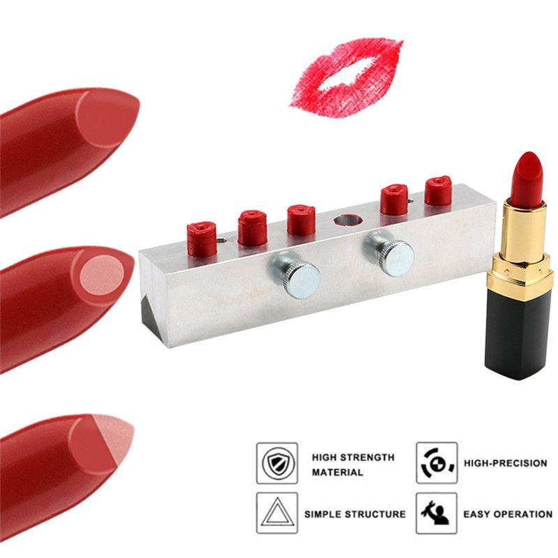 Pro 1 stück 6 Hohlräume Waterdrop 12,1mm Aluminium Lippenstift Form Make-Up Form Werkzeug für DIY Lip Rouge Balsam mit lippenstift Stripper