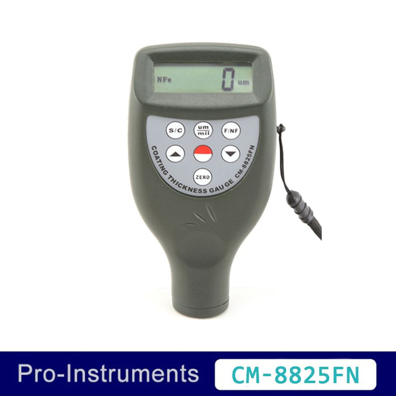 Landtek CM-8825FN 2 in 1 Handheld Pocket Size Auto Paint Thickness Tester 50mil 1250um Paint Gauge Thickness Meter Tester OD