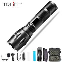 10000 Lums XPL-V6 L2 LED Tactical Flashlight Torch Zoomable linterna LED Flashlight Waterproof Torch For AAA 18650 Rechargeable